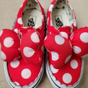 Minnie Mouse Vans Red and White Polka Dots